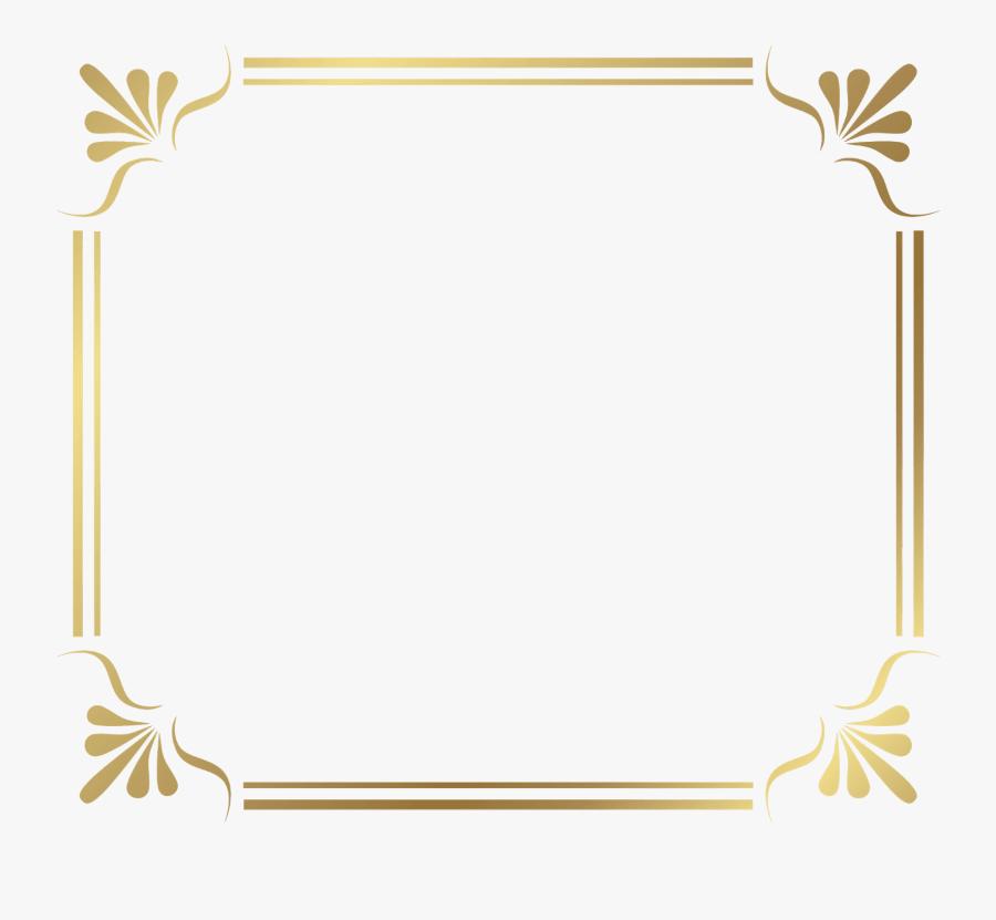 Border Background Design For Certificate, Transparent Clipart