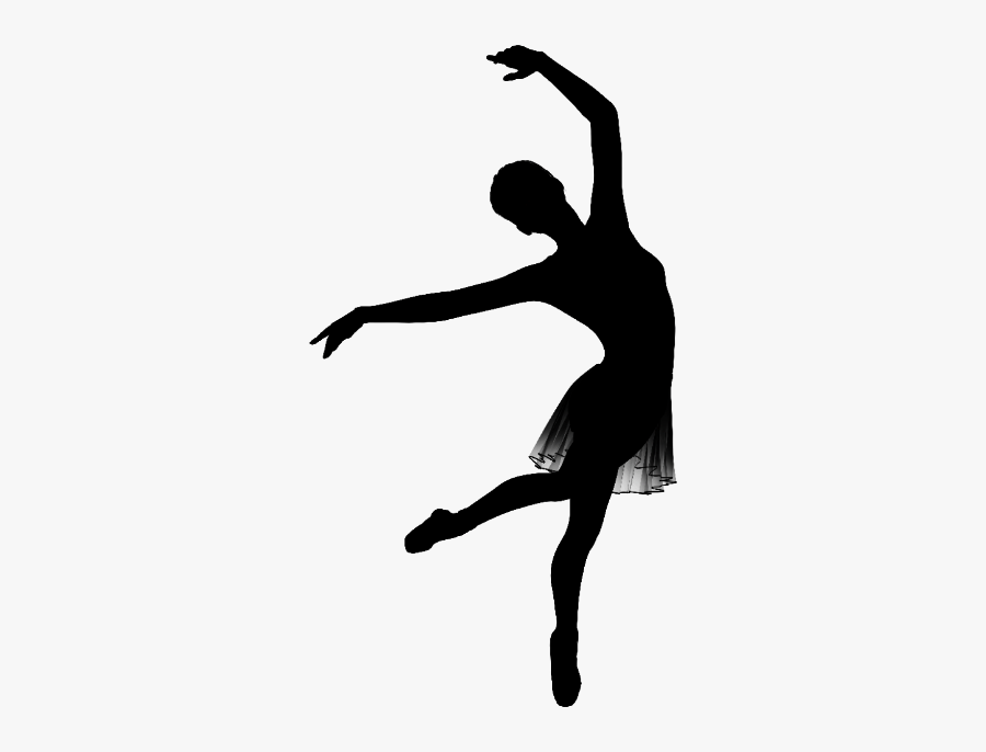 Ballet Dancer Ballet Dancer Dance Studio Contemporary - Silhouette Of A Dancer Lyrical, Transparent Clipart