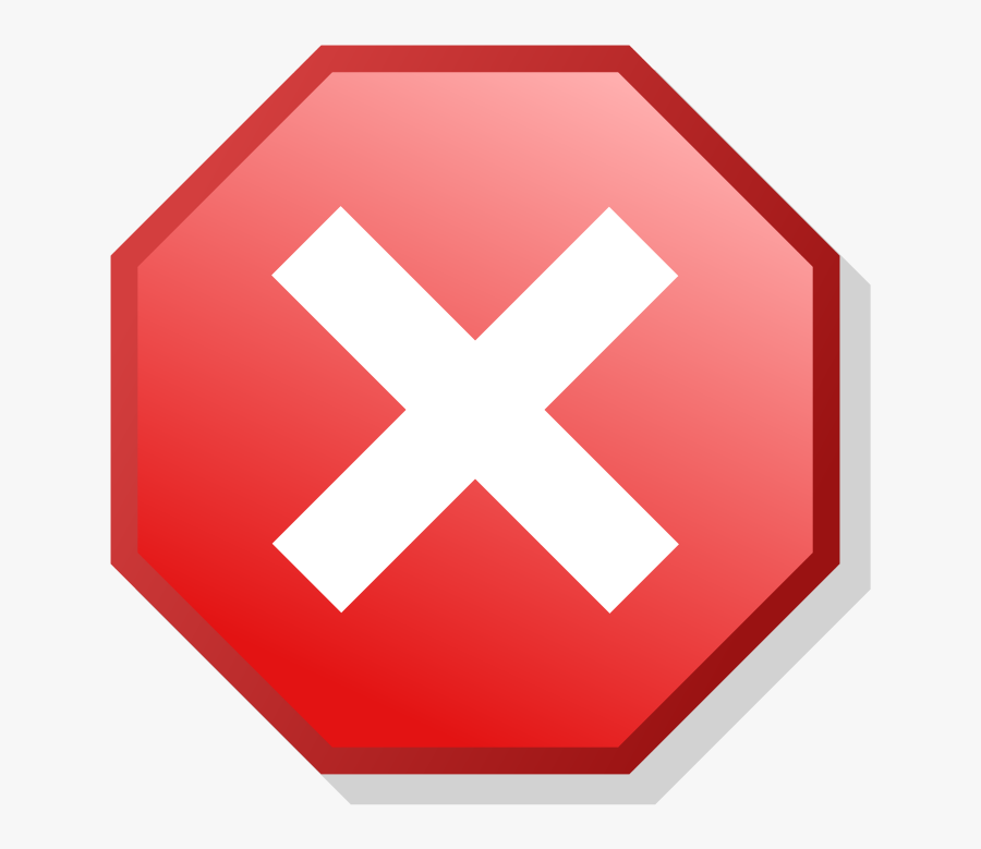 Red X In Circle, Transparent Clipart