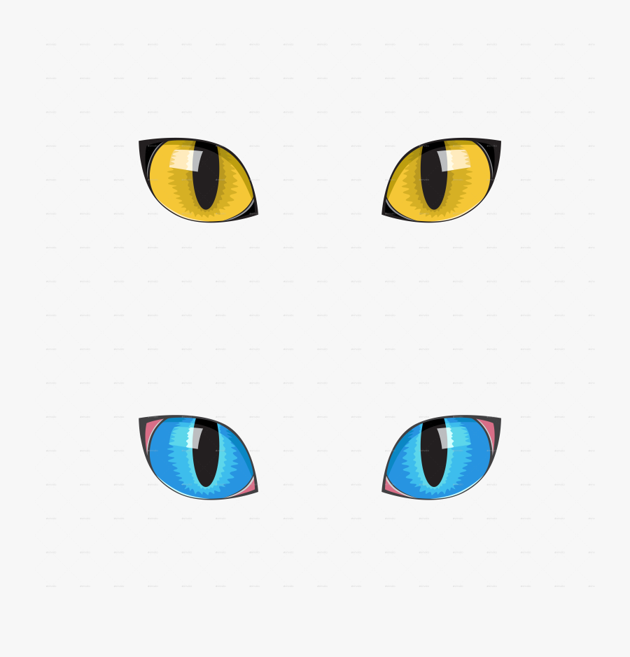 Cat Eyes Clipart - Transparent Background Yellow Cat Eye Art Transparent, Transparent Clipart