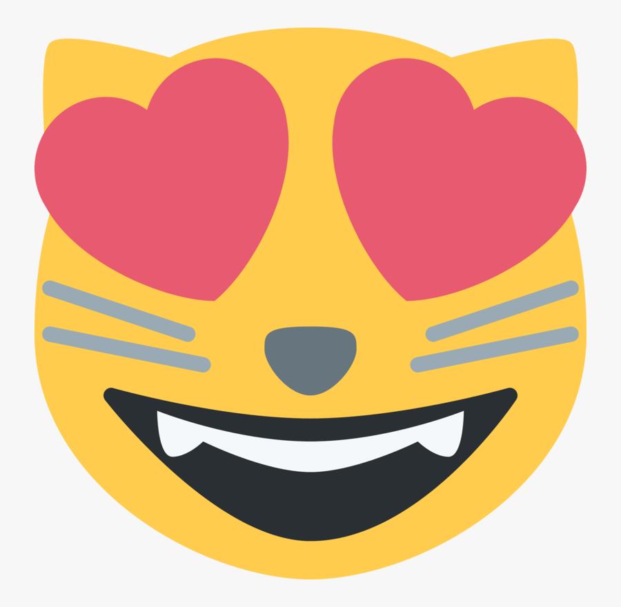 Emoji Cat Heart Eyes Png - Cat Heart Eyes Emoji, Transparent Clipart