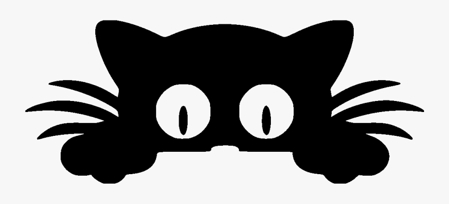 Cat Funny Eyes File Size - Cat Peeking Over Clipart Png, Transparent Clipart