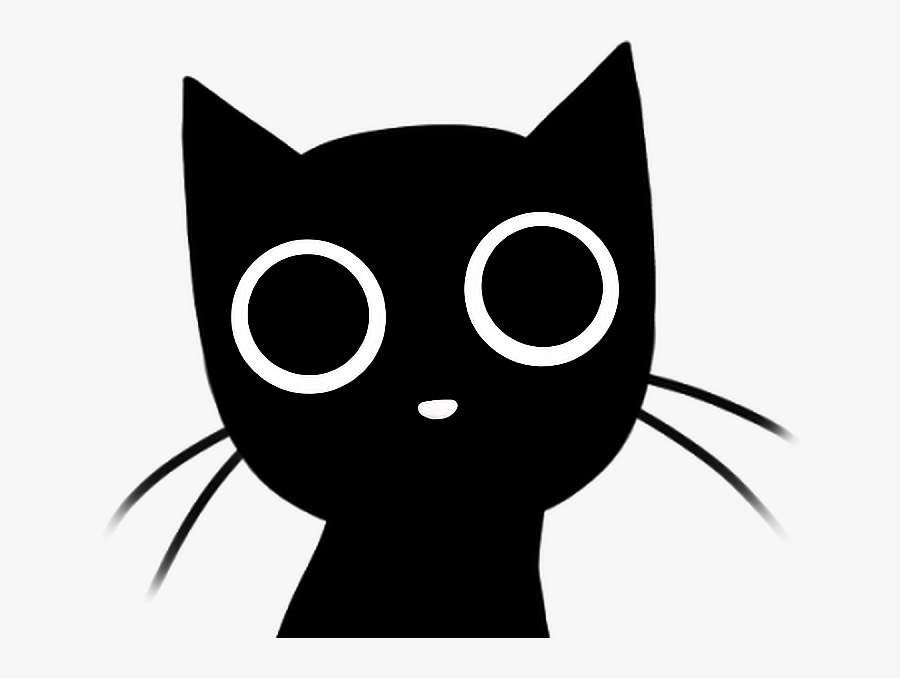 #cat #black #cutie #dark #eyes #kitty #gato #negro - Black Cat Gif Png, Transparent Clipart