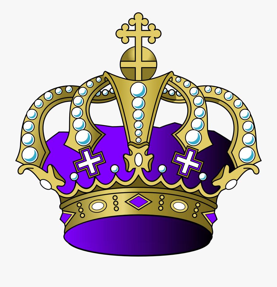 Transparent Princess Tiaras Clipart - Purple And Gold Crown Png, Transparent Clipart