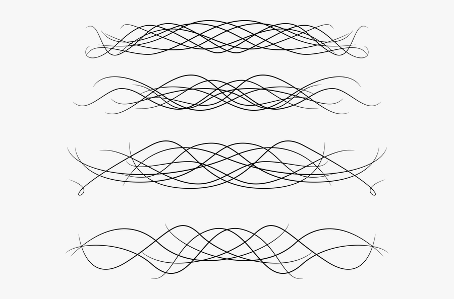 Transparent Swirl Divider Png - Portable Network Graphics, Transparent Clipart