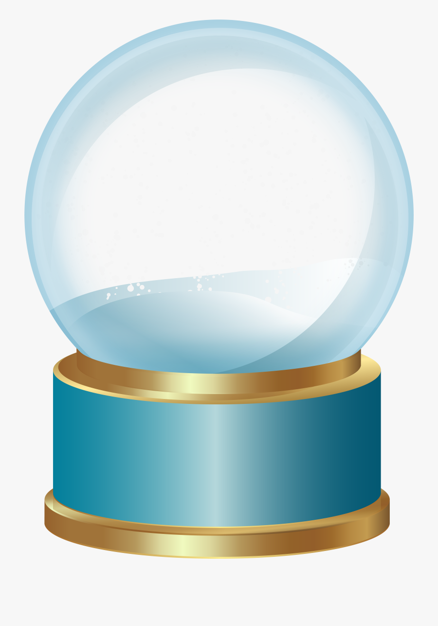 Transparent Snowing Clipart - Snow Globe With Transparent Background, Transparent Clipart