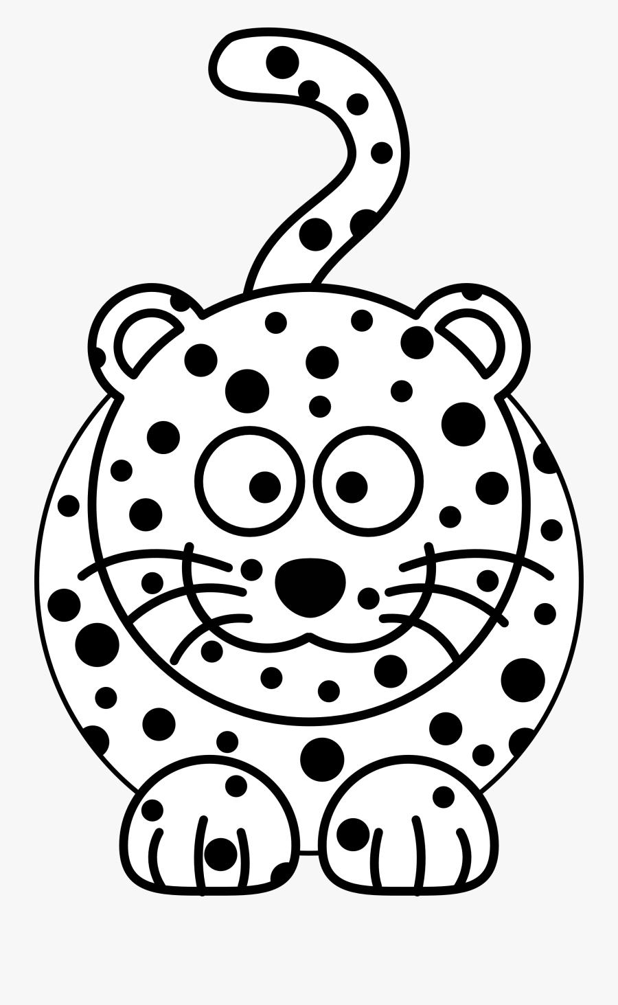 Cartoon Snow Leopard Coloring Page - Cheetah Facts For Kids, Transparent Clipart
