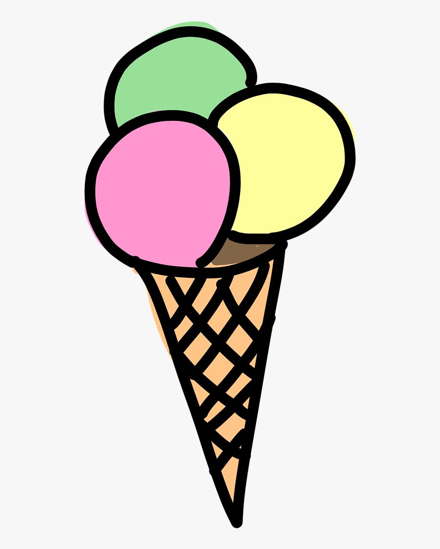 Waffle Ice Cream Free - Dondurma Çizimi, Transparent Clipart