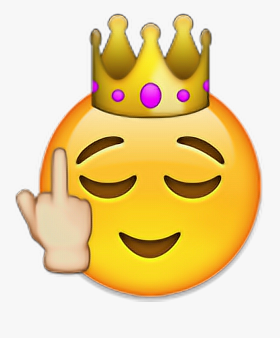 Crown Iphone Emoji Clipart , Png Download - Emoji Iphone Fuck You, Transparent Clipart
