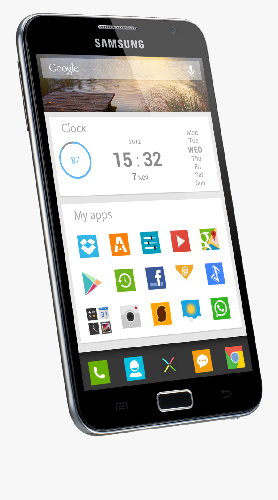 Chrome Os And Google Now Themes Give Android A Fresh - Chrome Os Phone, Transparent Clipart