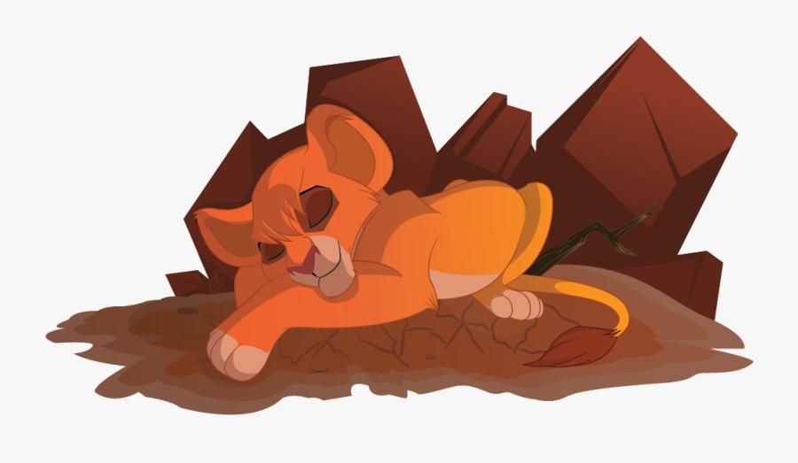 Clipart Squirrel Sleeping Beauty - Lion King Sleeping Cub, Transparent Clipart