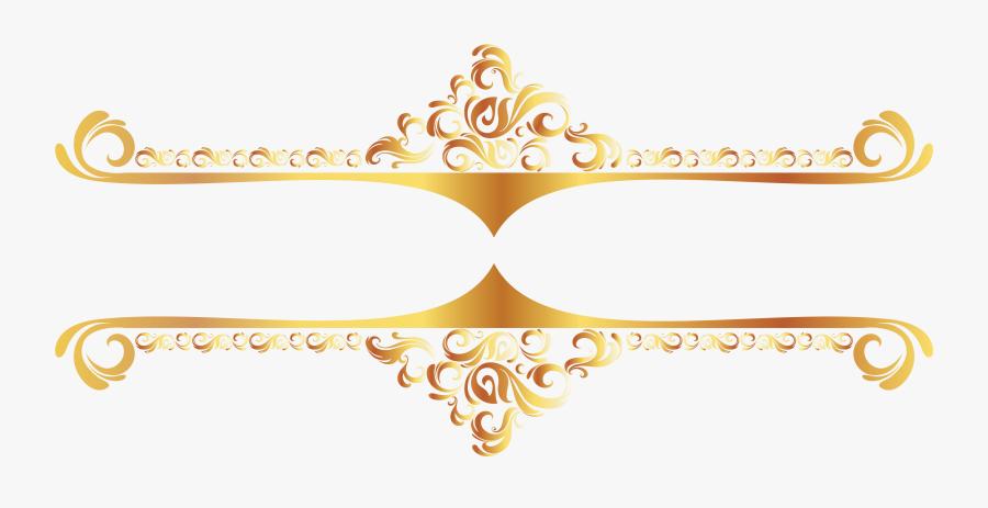 Gold Lines Cliparts - Vector Gold Border Png, Transparent Clipart