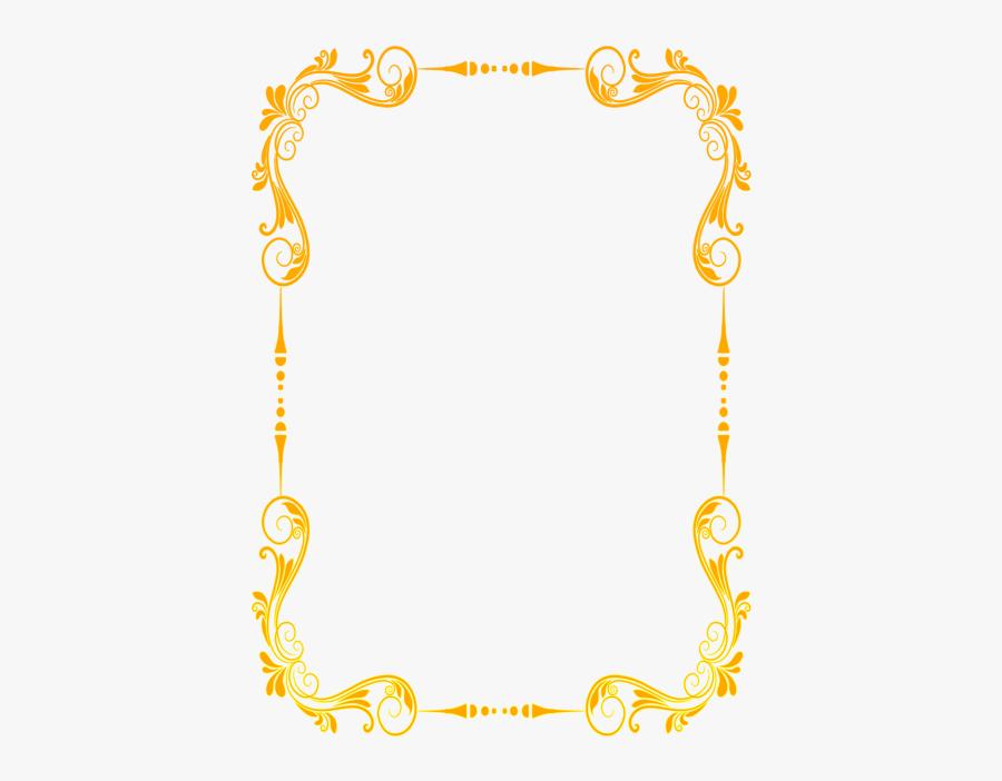 Beautiful Lace Royal Border - Bordes Dorados Para Tarjetas Png, Transparent Clipart