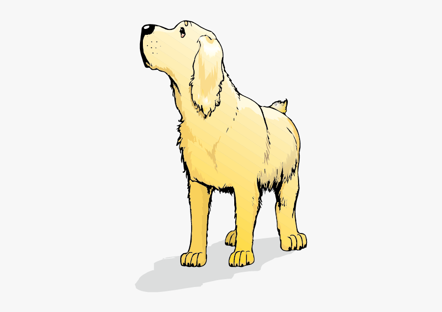 Golden Retriever Labrador Retriever Goldendoodle Labradoodle - Cartoon Golden Retriever Puppy Png, Transparent Clipart