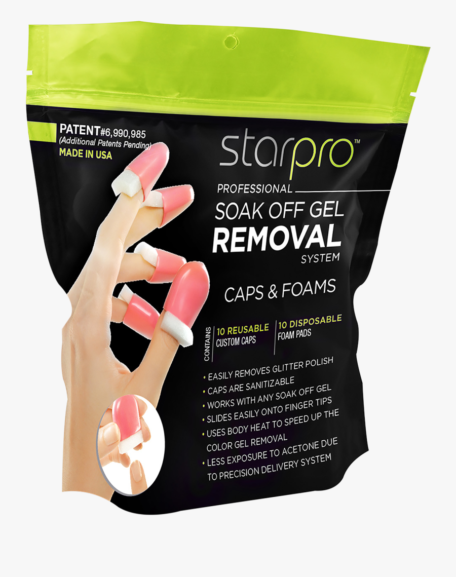 Svg Free Stock Nail Clip Gel Remover - Gel Polish Removing Caps, Transparent Clipart