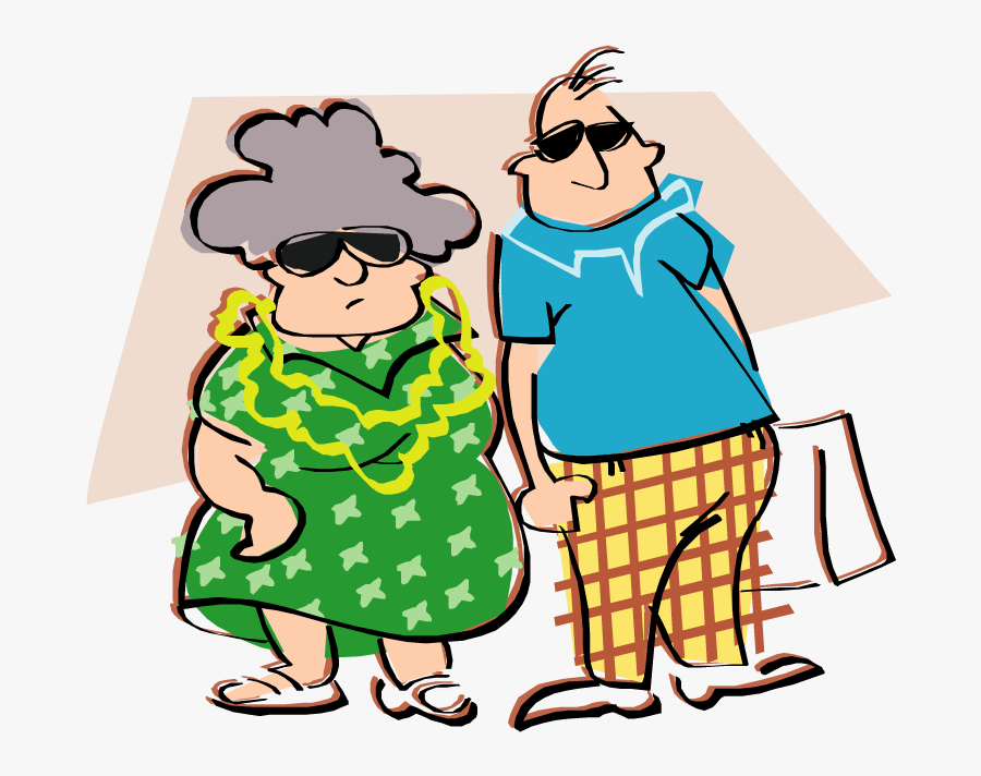 Fun In Marriage - Old Couple Clipart Transparent, Transparent Clipart