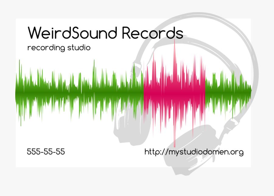 White Businesscard For Recording Studio - Graphic Design, Transparent Clipart