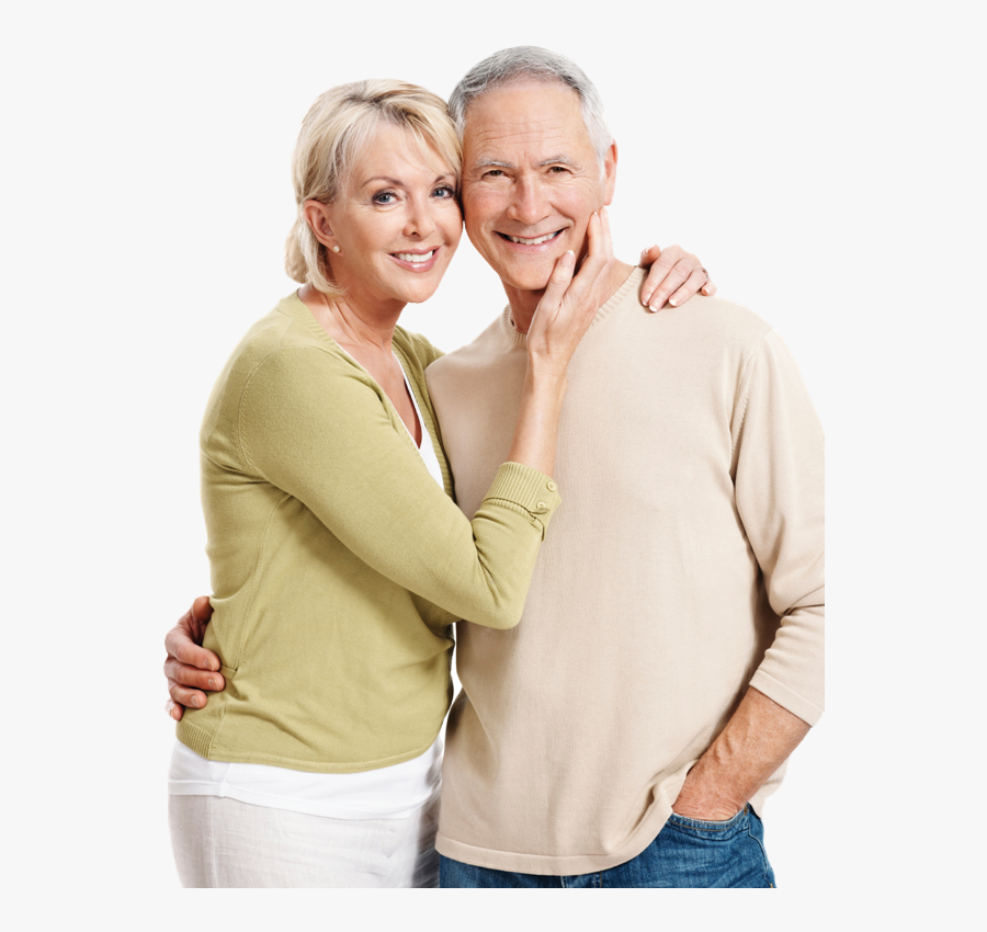 Clip Art Elderly Couple In Love - Happy Old Woman Png, Transparent Clipart