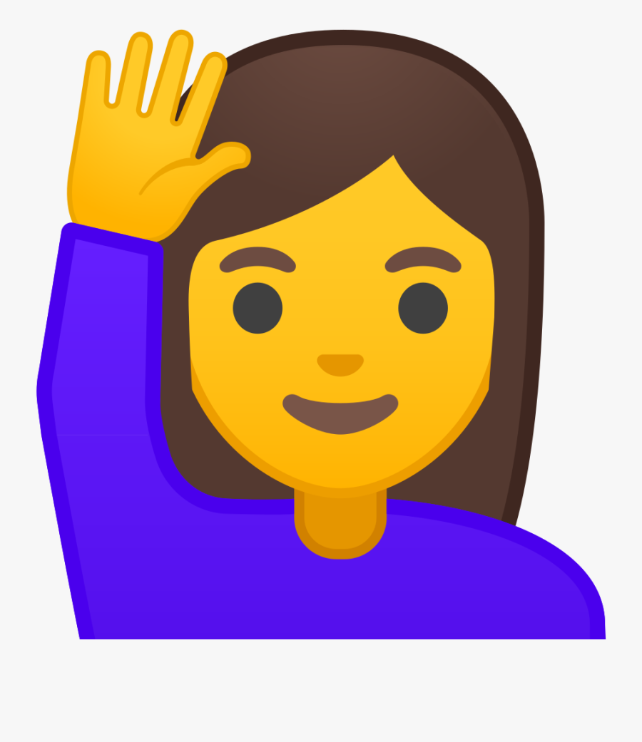 Transparent Raised Hand Clipart - Raise Hand Emoji, Transparent Clipart