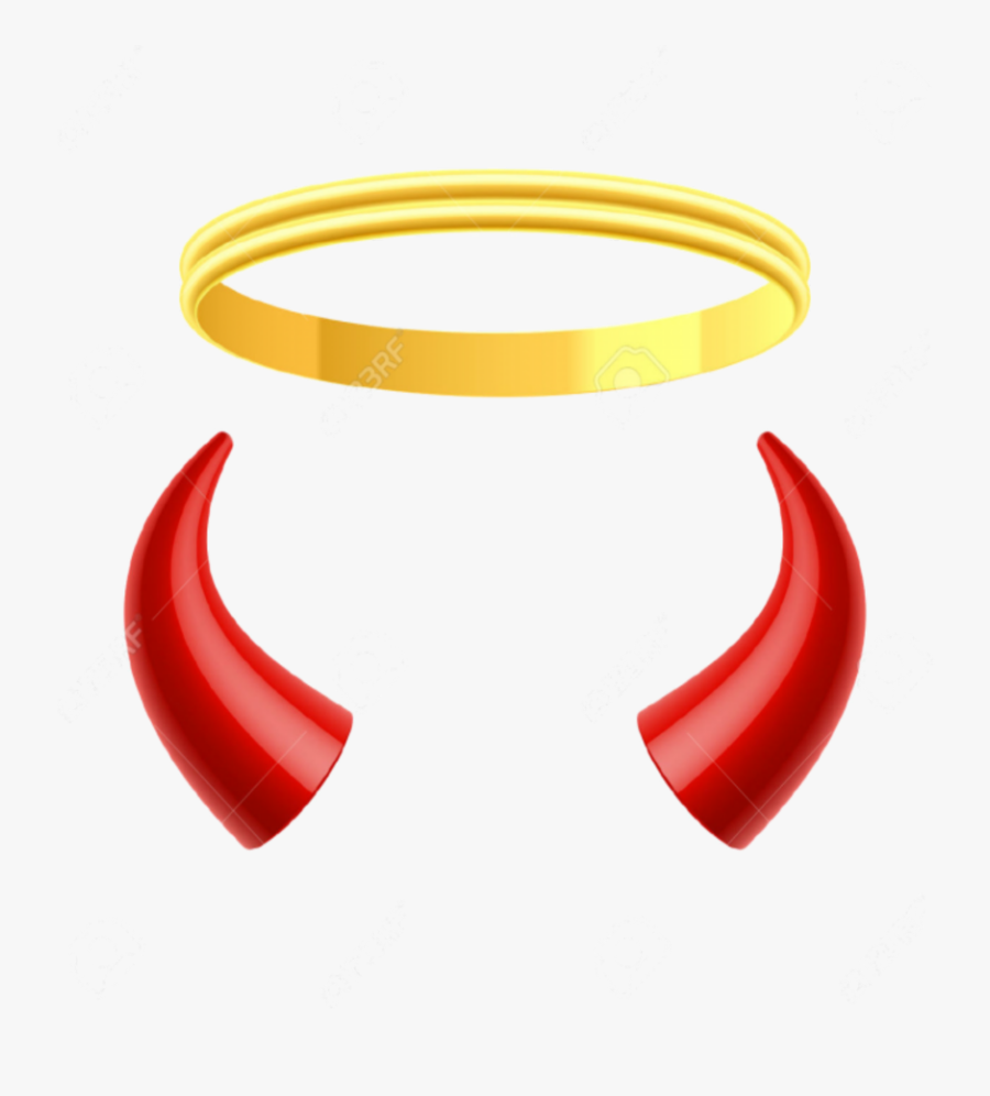 Sign Of The Horns Devil Clip Art - Picsart Angel And Devil, Transparent Clipart