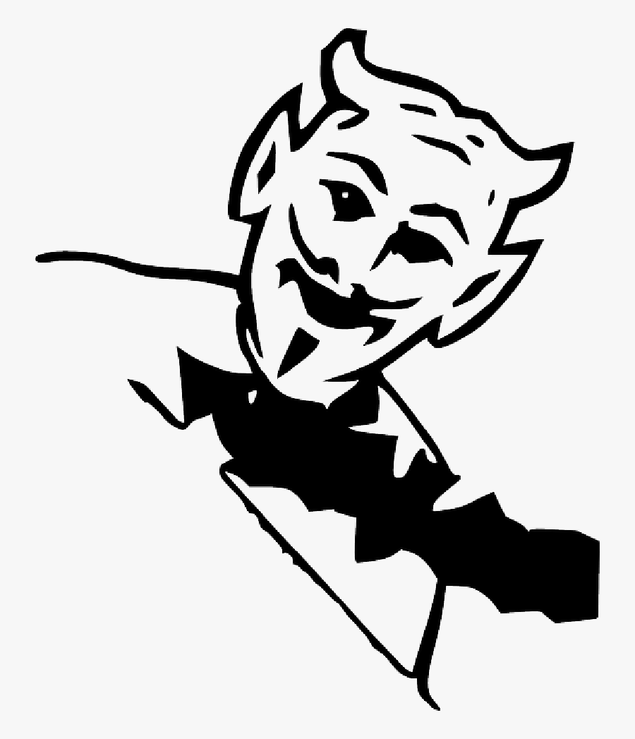 Horns At Getdrawings - Lil Devil Tattoo Black And White, Transparent Clipart
