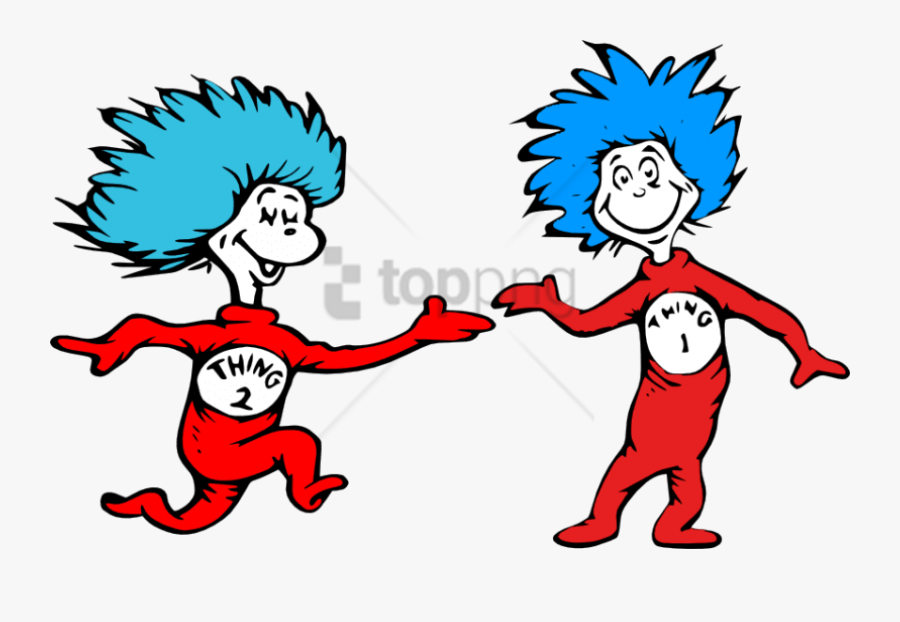Dr Seuss Thing 1 And Thing 2 Clipart , Png Download - Thing 1 And Thing 2 Png, Transparent Clipart