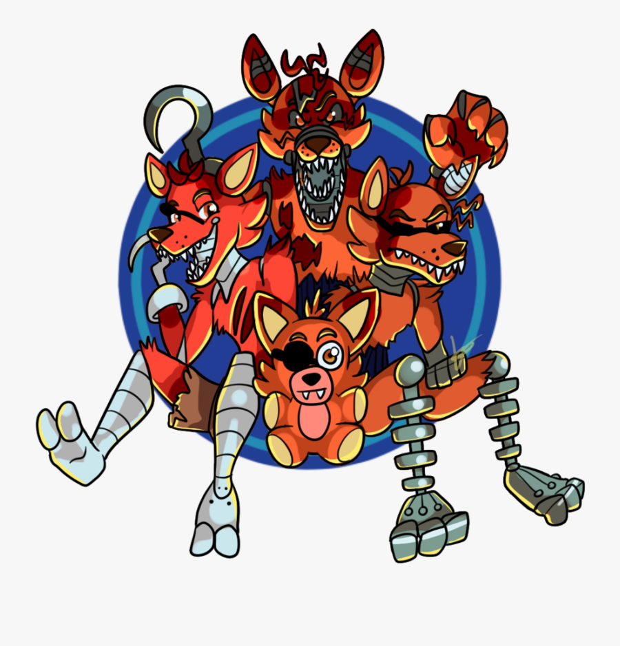 Foxy Family Picture By Halfway To Insanity - Five Nights At Freddy's, Transparent Clipart