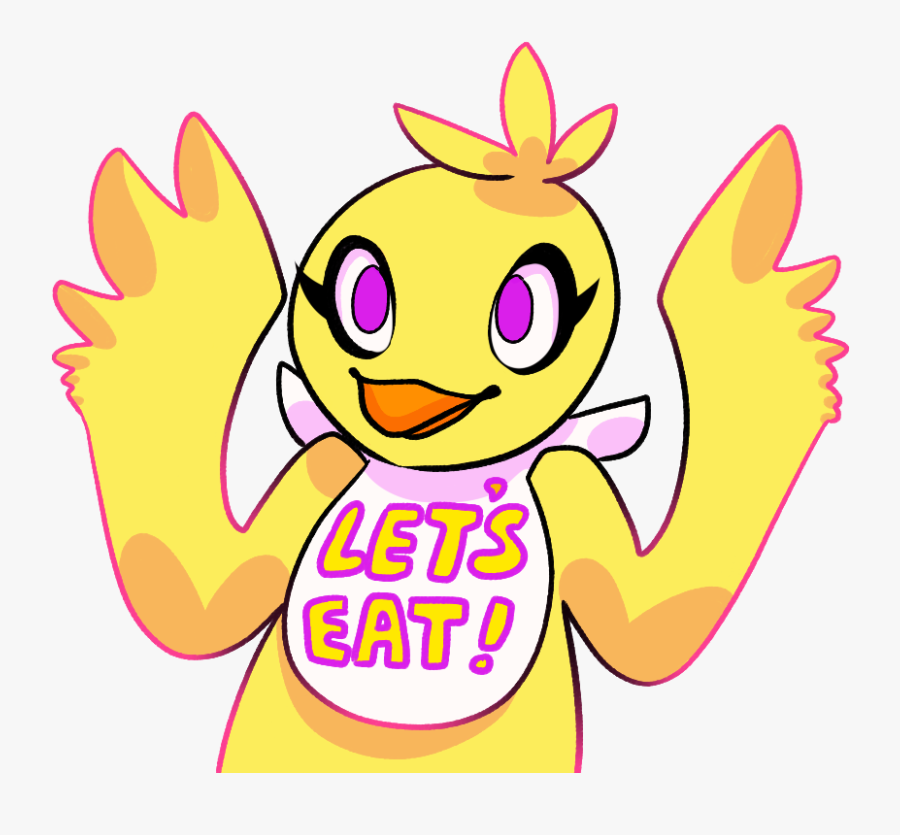"""Lets Eat Five Nights At Freddy""""s 2 Pink Yellow Text - Drawing Cute Five Nights At Freddy's Foxy, Transparent Clipart"""