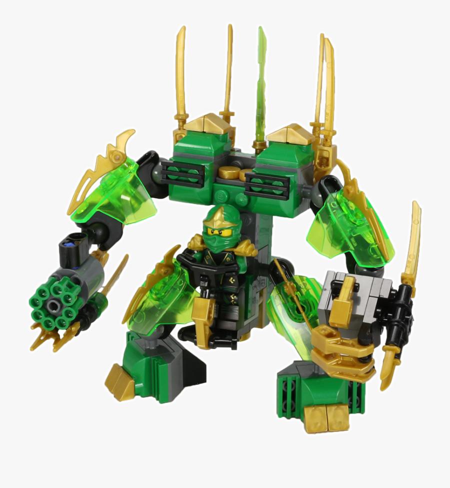 Lego Ninjago Green Ninja Robot , Png Download - Lego Ninjago Robot De Lloyd, Transparent Clipart