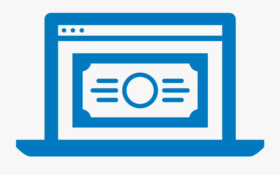Icon For Online Banking With Billpay - Bank Bill Pay Clipart, Transparent Clipart