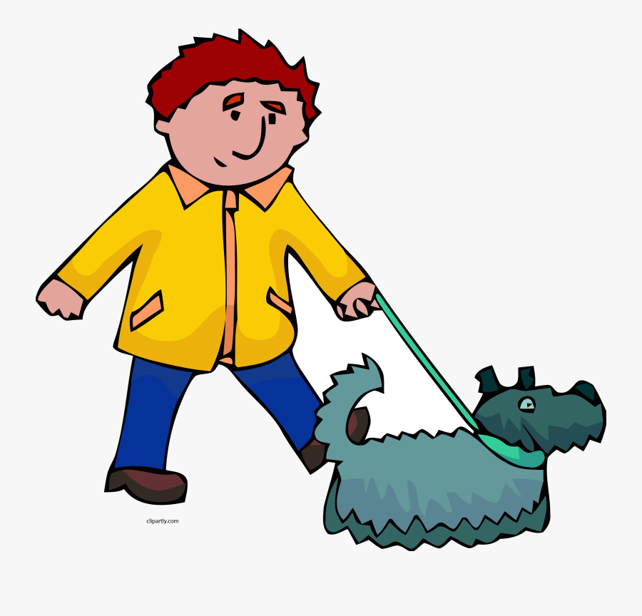 Dog Walking Man And Clipart Transparent Png - Man Walking Dog Clipart, Transparent Clipart