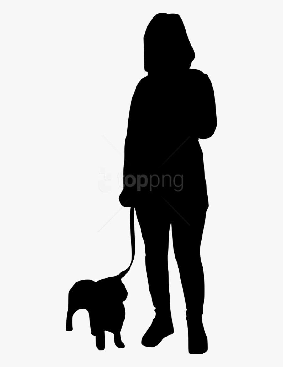 Free Png Dog Walking Silhouette Png - Person Walking Dog Silhouette Png, Transparent Clipart