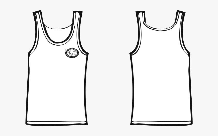 Tuna White Tank Top - Tank Top Shirt Png, Transparent Clipart