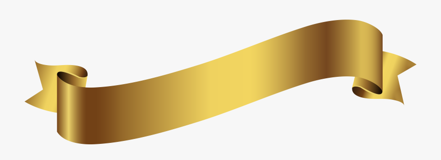 Clip Art Banner Transparent - Gold Banner Transparent Png, Transparent Clipart