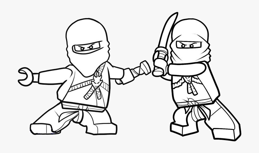 Clip Art Jogo Pinte Os Ninjas - Ninjago Kai Coloring Page, Transparent Clipart