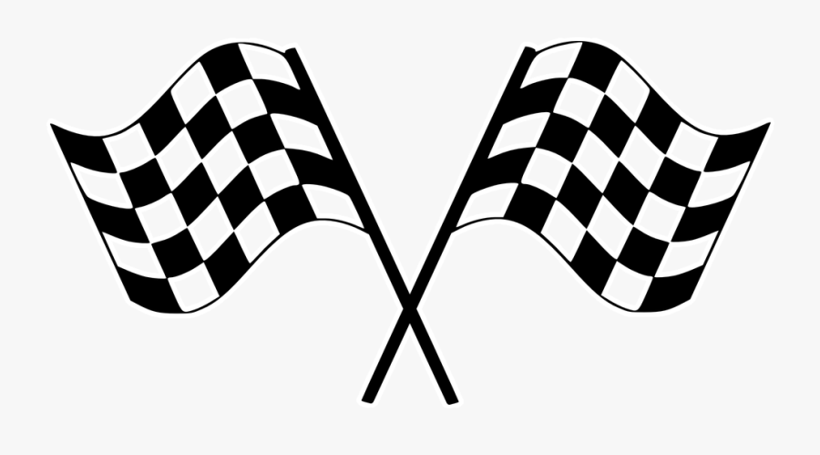 Finish Line Clipart Checkerboard - Checkered Flags Png, Transparent Clipart