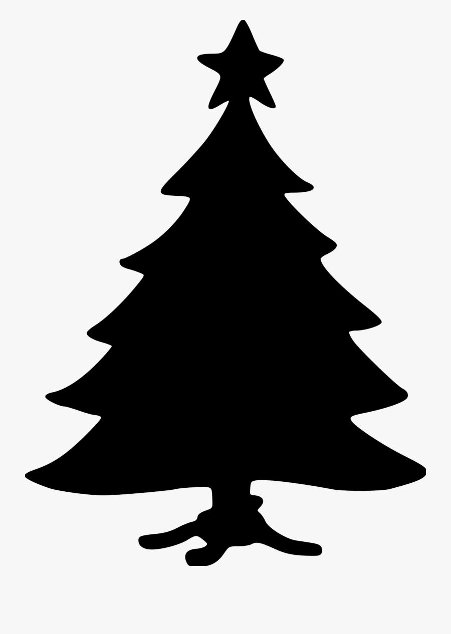 Transparent Christmas Silhouette Png - Christmas Tree, Transparent Clipart