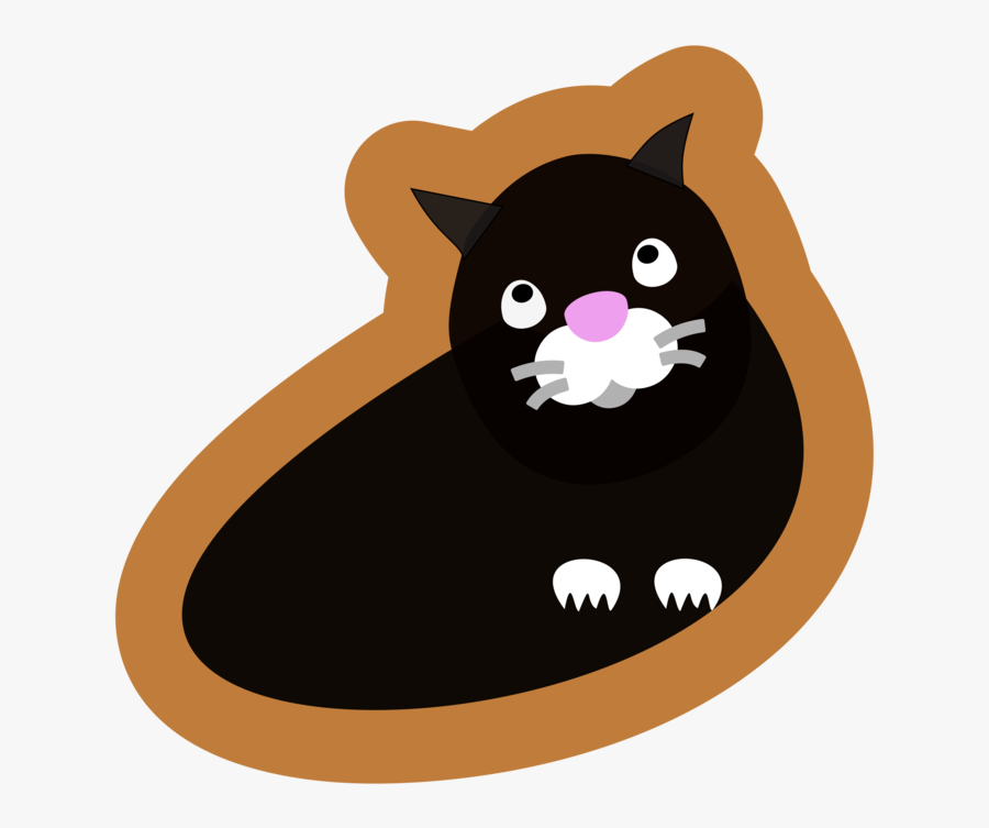 Domestic Short Haired Cat,paw,small To Medium Sized - Black Cat, Transparent Clipart