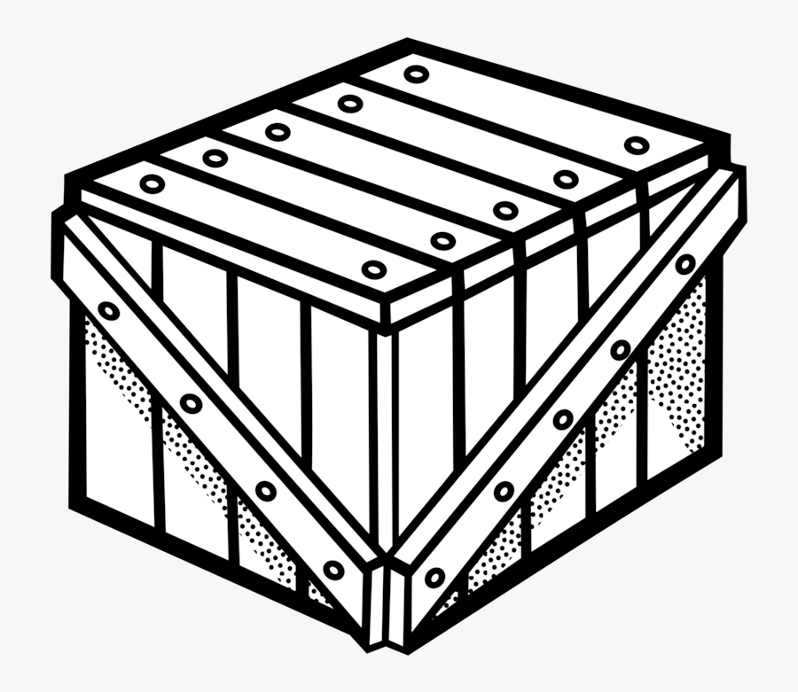 Crate Clipart Free For Download - Crate Black And White, Transparent Clipart