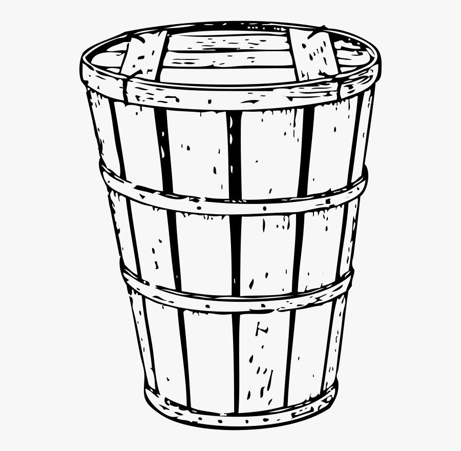 Hamper Crate - Crates Barrels Black And White Clipart, Transparent Clipart