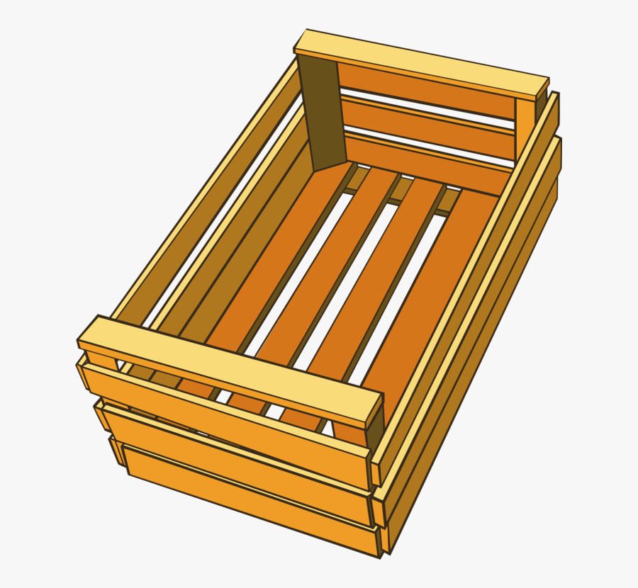 Angle,hardwood,material - Transparent Background Wood Crate Clipart, Transparent Clipart