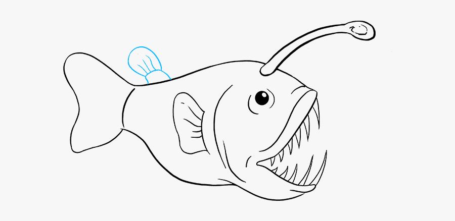 Drawing Nemo Angler Fish Transparent Png Clipart Free - Easy Angler Fish Drawing, Transparent Clipart