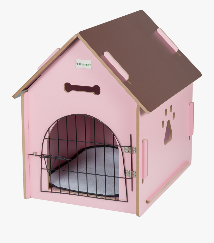Allieroo Dog House Crate Wooden Kennel Indoor Condo - Pink Wooden Dog House, Transparent Clipart