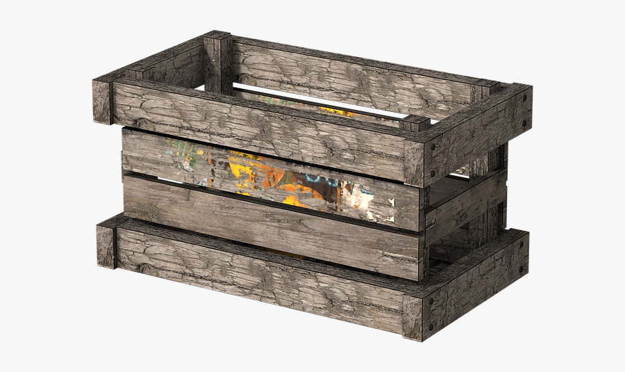 Wooden Crate Side View - Wooden Crate Transparent Background, Transparent Clipart