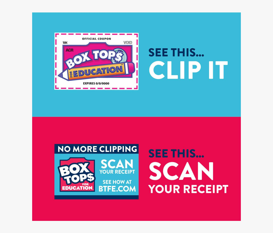 Box Tops For Education Clips - Scan Box Tops For Education, Transparent Clipart
