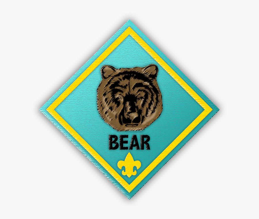 Transparent Cub Scout Clipart - Cub Scout Bear, Transparent Clipart