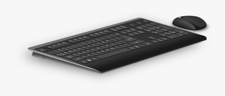 Laptop Part,space Bar,electronic Device - Computer Mouse And Keyboard Png, Transparent Clipart