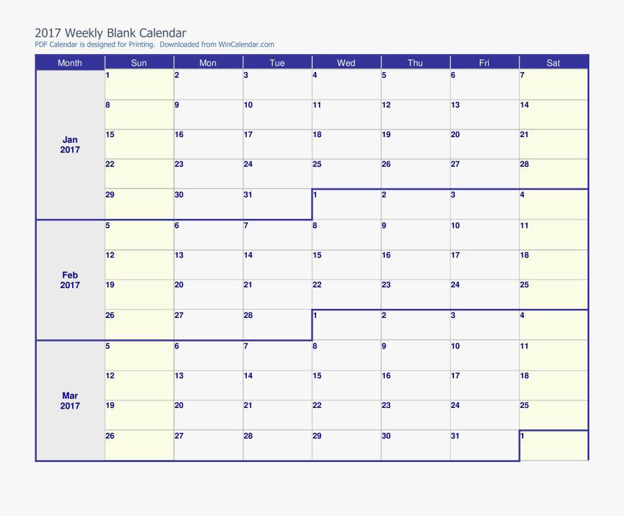 Clip Art Free Printable Monthly Templates - 3 Month Calendar Pdf, Transparent Clipart