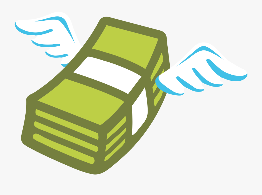 Money With Wings Clipart, Transparent Clipart