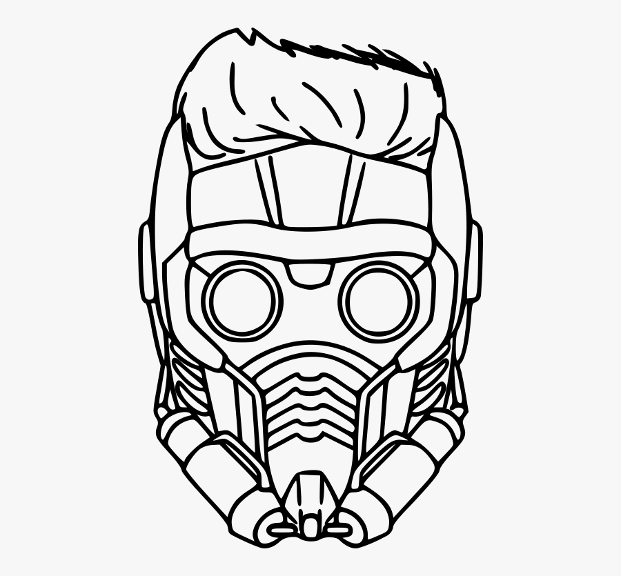 Guardian Of The Galaxy Mask Coloring Pages, Transparent Clipart